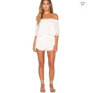 Show Me your MUMU Rosarita Romper in White Cloud